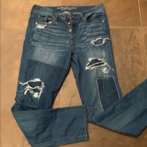American Eagle Tomgirl jeans 8 XL. Mint condition